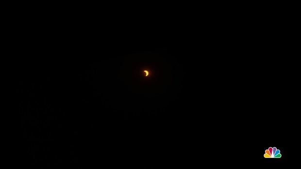 Time-Lapse Shows Solar Eclipse Over LA