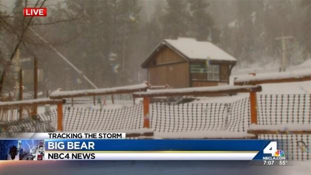 [LA] Snow Arrives in Big Bear