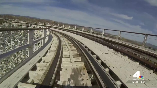 [LA] Marathon Riders Bid Six Flags Colossus Roller Coaster Farewell