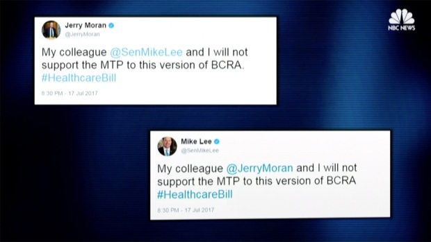 [NATL] GOP Senators Pull Support For Health Care Bill