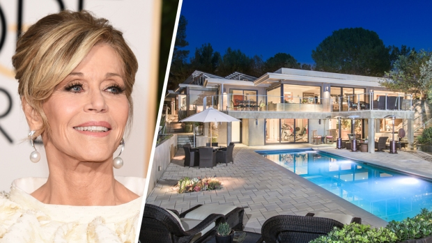 [LA ONLY]Jane Fonda Looks to Work Out a $12.9M Sale for Her Modern Mansion