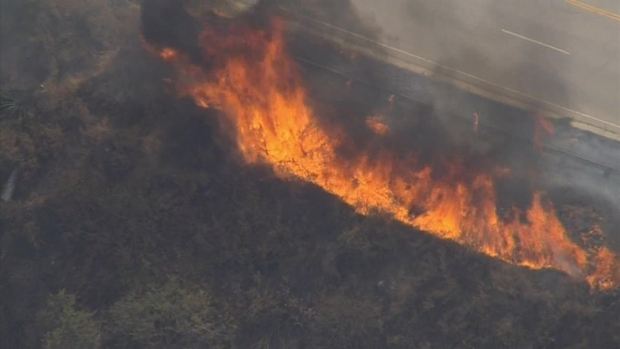 [LA] Brush Fire Shuts Down 210 Freeway in Sun Valley