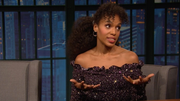 [NATL] 'Late Night': Kerry Washington's Broadway Play Is Super Intense