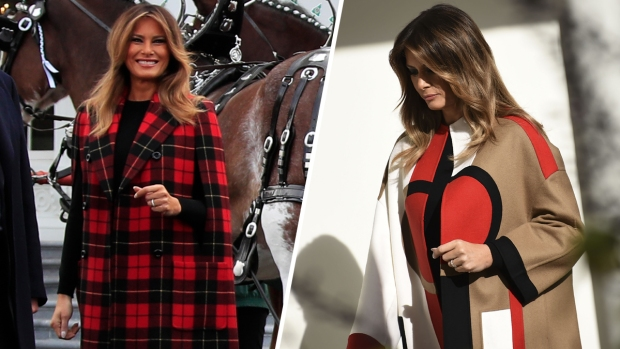 First Lady Melania Trump's Festive Holiday Outfits