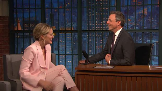 [NATL] 'Late Night': Taylor Schilling's French Bulldog Can Talk