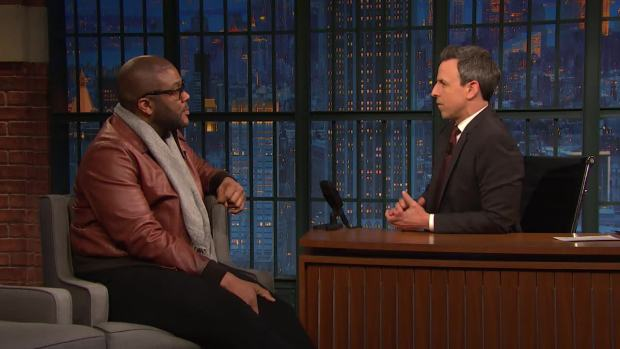 [NATL] 'Late Night': Tyler Perry Called Colin Powell Before 'Vice'