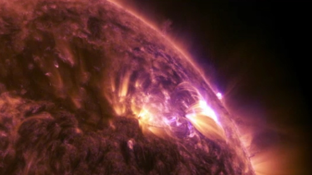 Watch: Spectacular Solar Flares