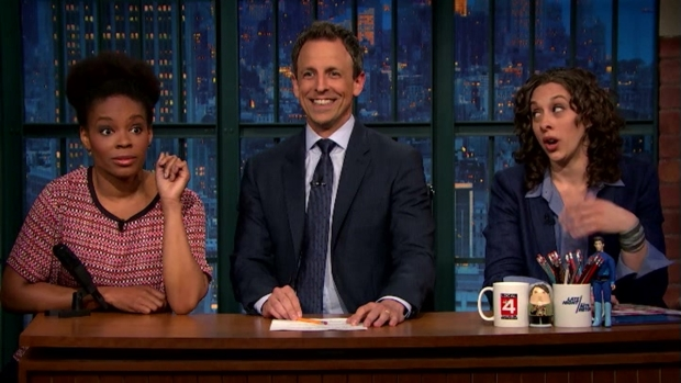 [NATL] Racial and Gender Jokes Seth Meyers Can't Tell