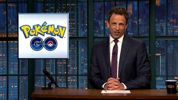 [NATL] 'Late Night' Monologue: Sanders' Clinton Endorsement, 'Pokémon Go's' Record