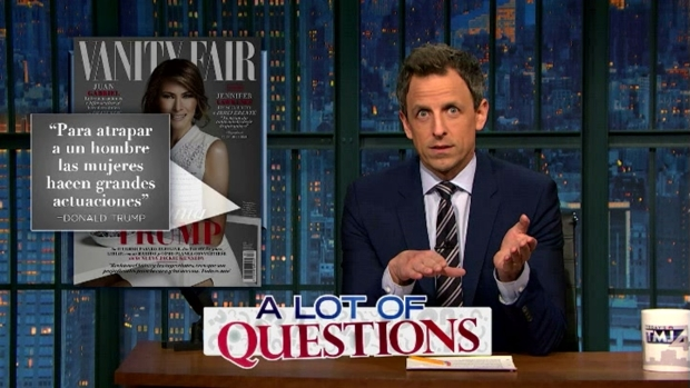 'Late Night': Questions About FLOTUS on Vanity Fair