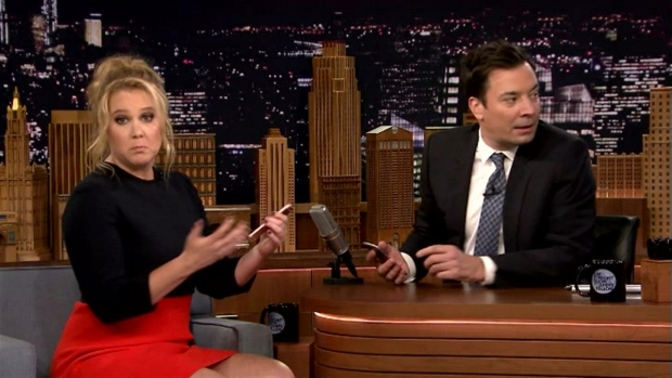 [NATL] 'Tonight Show': Jimmy Fallon and Amy Schumer Play 'Explain This Photo' Game