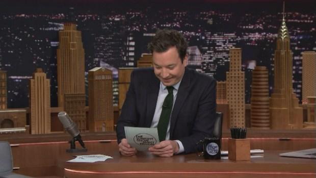 [NATL] 'Tonight Show': Fallon Shares Tweets on Marijuana Legalization