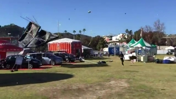 "[LA] Four Injured in Rose Bowl ""Freak"" Wind Event"