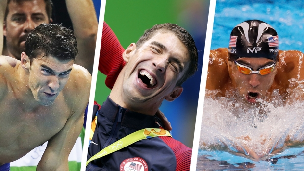 The Many Faces of Michael Phelps