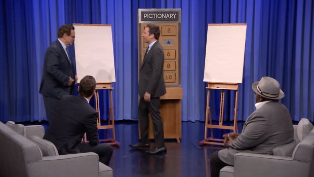 [NATL]'Tonight Show' Pictionary With Ryan Seacrest, Cedric the Entertainer
