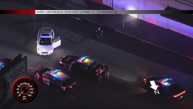 [LA] Police Pursuit Ends With Man Dancing