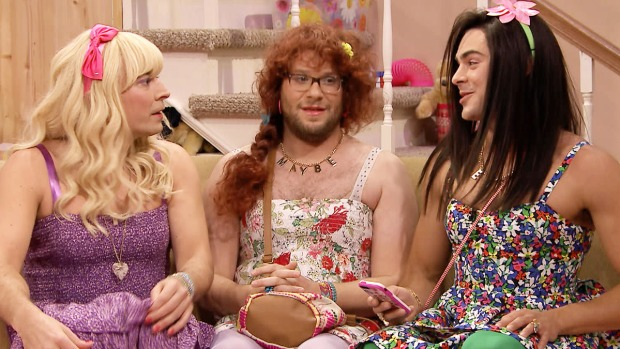 "[NATL] Seth Rogen, Zac Efron Dress in Drag for Sketch on ""The Tonight Show"""
