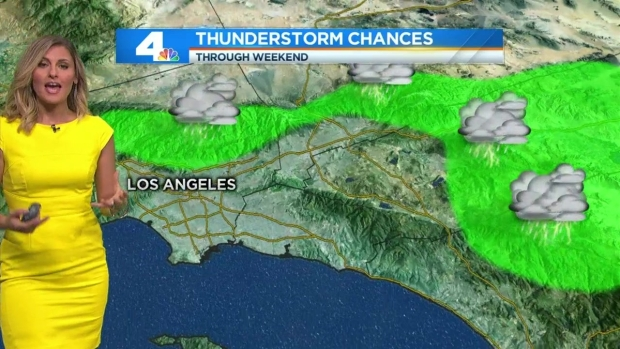 [LA] AM Forecast: Humidity Increases, Chance of Thunderstorms