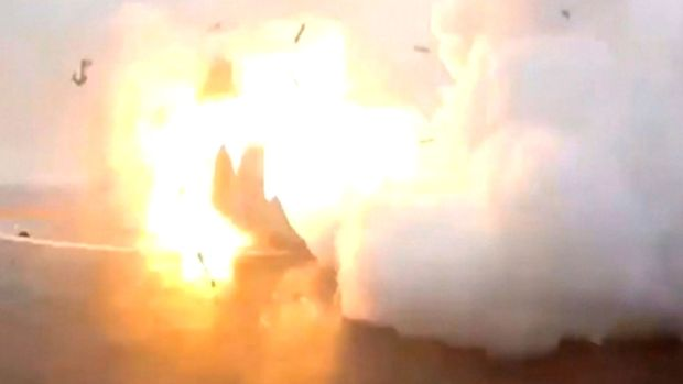 [NATL] SpaceX Rocket Bursts Into Flames