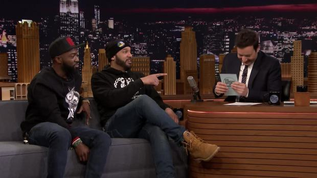 [NATL] 'Tonight': Desus & Mero Give Their Hot Takes on Cardi B's Grammy Chances