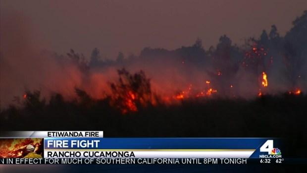 [LA] Firefighters Continue to Battle Etiwanda Fire