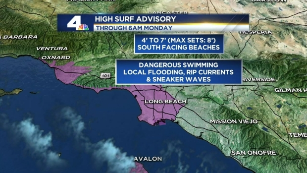 [LA] Mid-Day Update: Weekend Waves, Rain Possible By Sunday