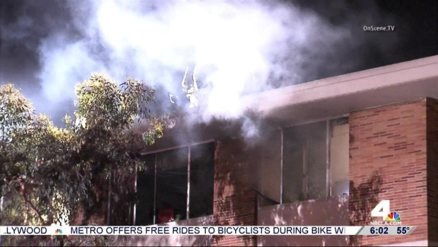 [LA] USC Dorm Fire During Finals Week