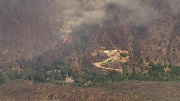[LA] Raw Video: Fire Burns in Cleveland National Forest