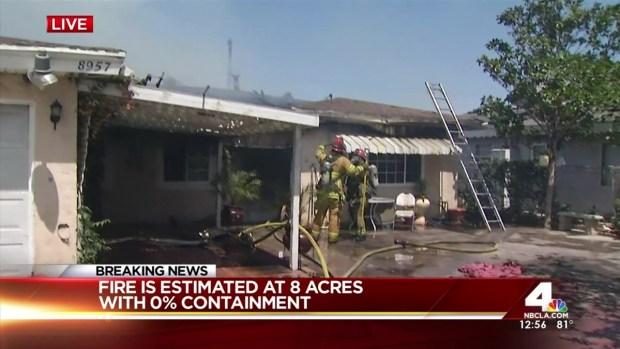 [LA] 8-Acre Fire Threatens Homes in Jurupa Valley