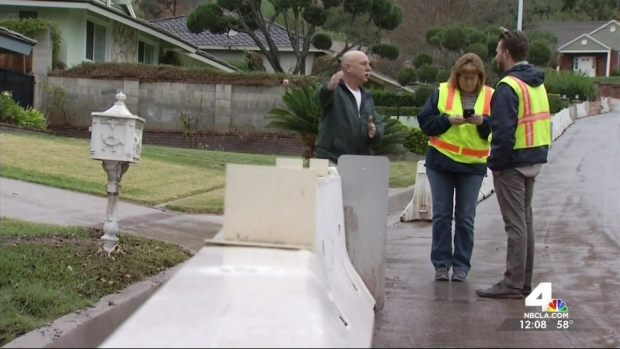Light Rain Falls in Slide-Prone Glendora