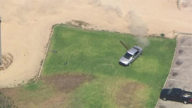 [LA] Pursuit Driver Speeds Through Park