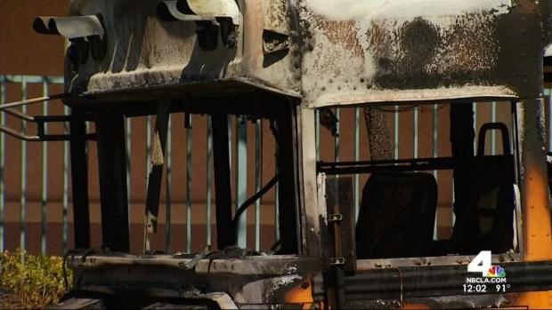 [LA] Firefighters Credit Hero School Bus Driver
