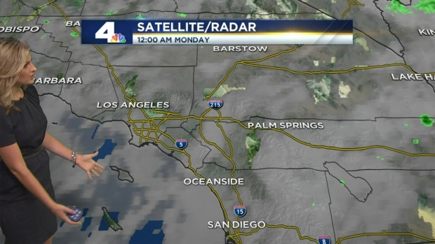 [LA] AM Forecast: Isolated Showers to Start the Week