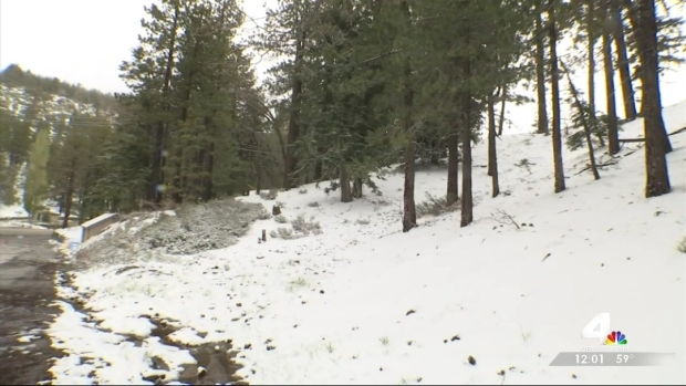 [LA] Spring Snowfall in Wrightwood