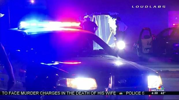 [LA] Driver Leads CHP on Pursuit, Crashes Into Building