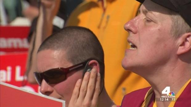 [LA] Protests Follow Dalai Lama to Southern California