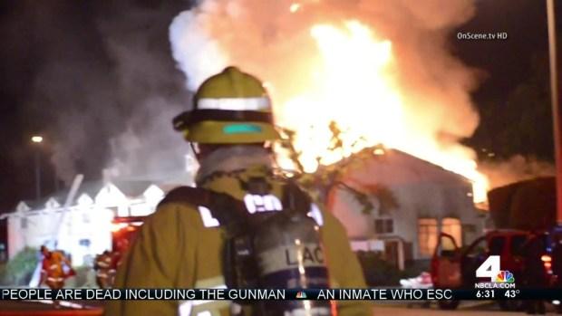 [LA] Downey Fire Damages Businesses