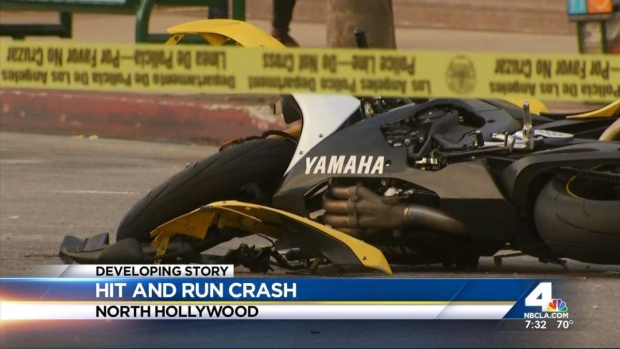 [LA] Motorcyclist Dead in North Hollywood Hit-and-Run