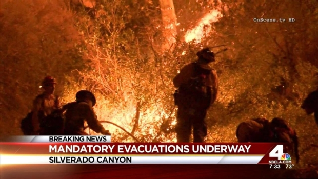 [LA] Firefighters Begin to Gain Control of Silverado Fire