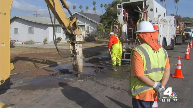 [LA] Water Main Breaks Affect Customers in Highland Park, Glassell Park