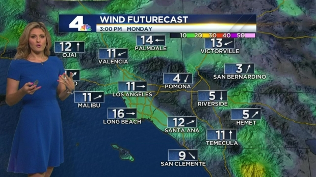 [LA] AM Forecast: Temperatures in the 90s