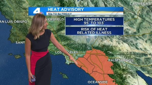 [LA] AM Forecast: Weekend Heat Wave Could Break Records