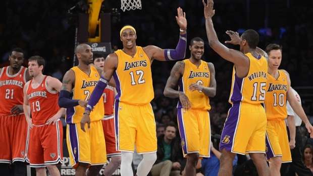 Kobe and Dwight Lead Balanced Lakers Past Bucks