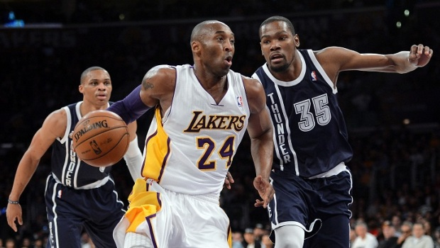 Lakers at Thunder: Kobe Bryant v.  Kevin Durant