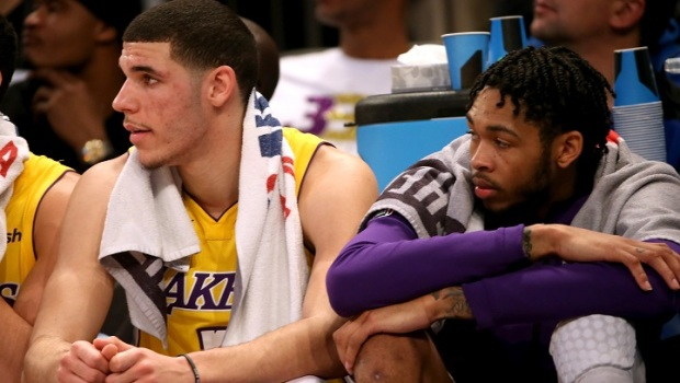 [LA] Lakers Rookie Lonzo Ball Out With Shoulder Sprain
