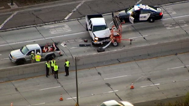 Road Worker Struck by Pickup in Crash Near LAX