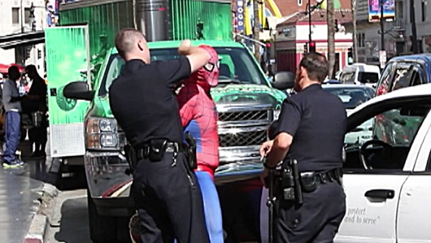 [LA - LA only, do not target to other markets] Police Search for Spider-Man