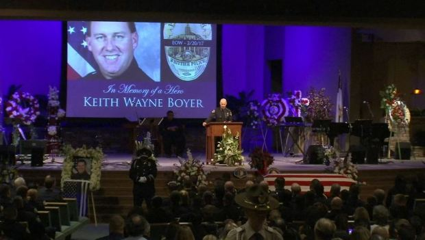 [LA] Watch: Whittier Police Chief's Emotional Tribute to Officer Keith Boyer