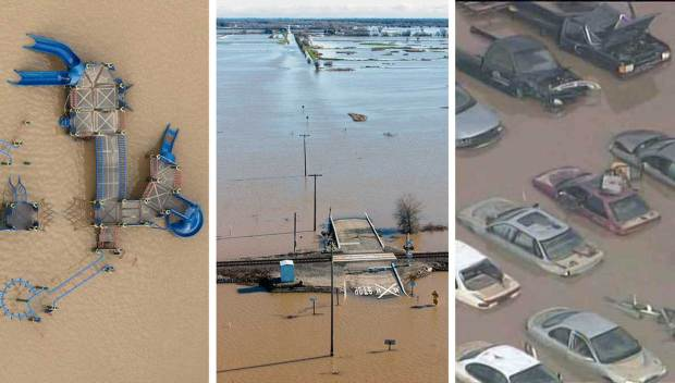 Aerial Photos of California's Winter Floods, Storm Damage