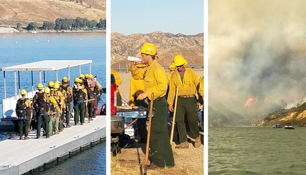 Smoke on the Water: Images of Castaic Lake Wildfire